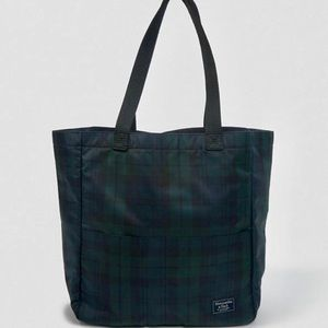 NWT Abercrombie Large Navy & Green Tote Bag, Cute!